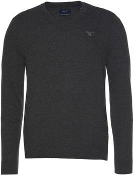 GANT Extra Fine Lambswool V-Neck Sweater anthracit melange (8010520)