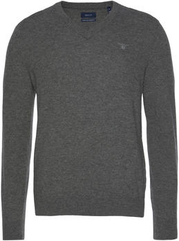 GANT Extra Fine Lambswool V-Neck Sweater dark charcoal melange (8010520-97)