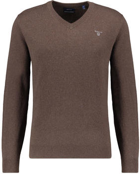 GANT Extra Fine Lambswool V-Neck Sweater dark brown (8010520-280)