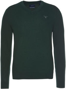 GANT Extra Fine Lambswool V-Neck Sweater tartan green (8010520-374)