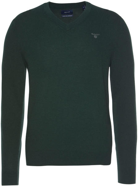 GANT Extra Fine Lambswool V-Neck Sweater tartan green (8010520-374)