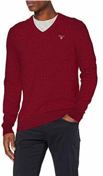 GANT Extra Fine Lambswool V-Neck Sweater bburgundy (8010520-678)