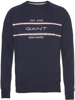 GANT Stripe Sweatshirt evening blue (2006026-433)