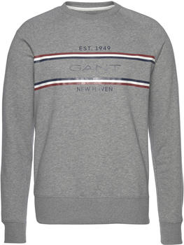 GANT Stripe Sweatshirt grey melange (2006026-93)