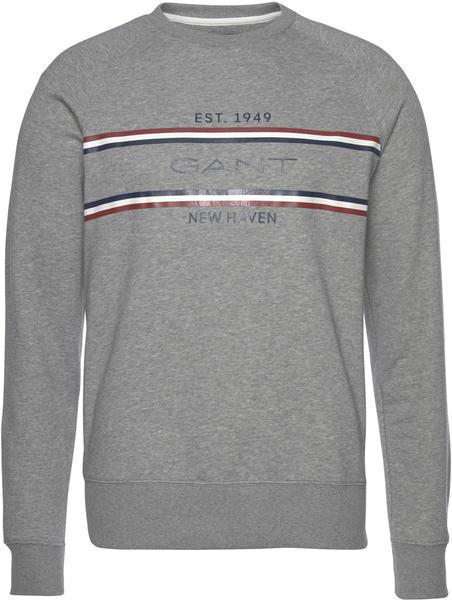 GANT Stripe Sweatshirt grey melange (2006026-93)