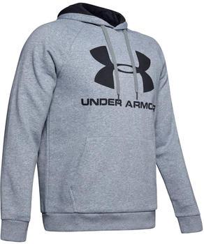 Under Armour Men's Rival Fleece Sportstyle Logo Hoodie (1345628-035) Steel Light Heather