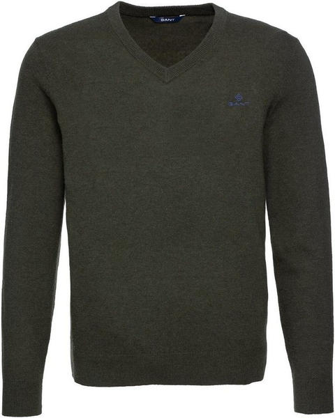 GANT Extra Fine Lambswool V-Neck Sweater field green (8010520-342)