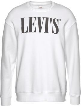 Levi's Relaxed Graphic Crewneck (85788) 90'S Serif Logo Crew white