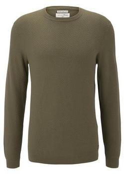 Tom Tailor Denim Herren-Pullover dry greyish olive (1020346)