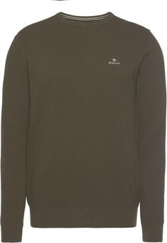 GANT Piqué Sweater dark cactus melange (8030521)