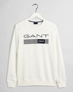 GANT 13 Stripes Rundhals-Sweatshirt (2006027-113) eggshell