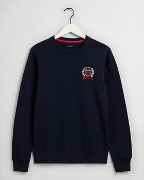 GANT Crest Rundhals-Sweatshirt (2046022-433) evening blue