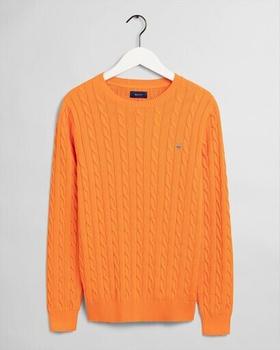 GANT Baumwoll Zopfmuster Pullover (8050501-804) persimmon orange