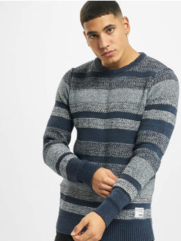 Jack & Jones Knitted Pullover jj30Marlon blue (12178419NVYBLACOM2)