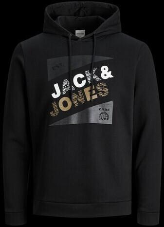 Jack & Jones Jcoretail Sweat Hood Nov Ltn (12184429) black