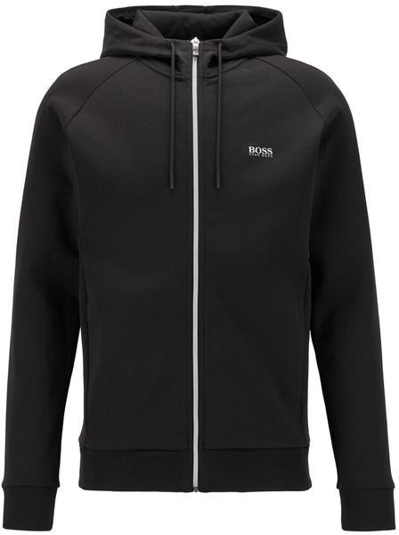 Hugo Boss Kapuzen-Sweatjacke mit Logo-Print und kontrastfarbenem Reißverschluss (50434923) schwarz 09
