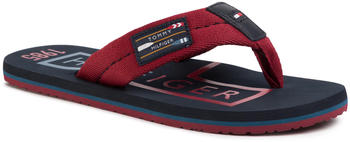 Tommy Hilfiger Badge Beach Sandal FM0FM02706 rot