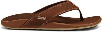 OluKai Men's Leather Beach Sandals rum