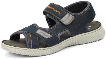 Rieker Herren-Sandaletten Sandale schwarz/blau (28153)