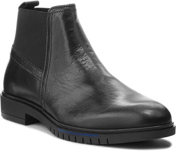 Tommy Hilfiger Flexible Dressy Leather Chelsea Boots (FM0FM01810) black