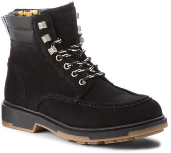 Tommy Hilfiger Lace Up Combat Boots (EM0EM00171) black