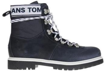 Tommy Hilfiger Canvas Suede Combat Boots (EM0EM00184) ink