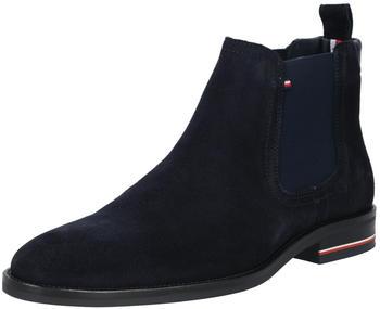 Tommy Hilfiger Signature Logo Suede Chelsea Boots (FM0FM03112) desert sky