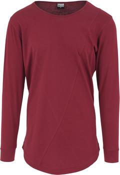 Urban Classics Long Shaped Fashion Longsleeve burgundy (TB1101)