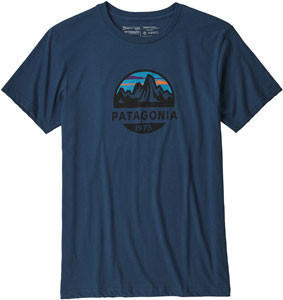 Patagonia Fitz Roy Scope Organic Cotton T-Shirt (39144) stone blue