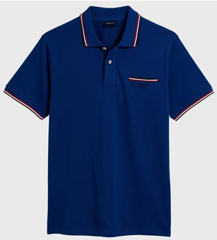 GANT 3-Color Tipping Piqué Poloshirt college blue (252161-436)