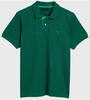 GANT Piqué-Poloshirt mit Kontrastkragen ivy green (252105-373)