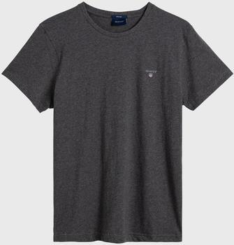 GANT Kurzarm-T-Shirt charcoal melange (234100-90)