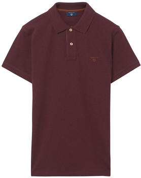 GANT Piqué-Poloshirt mit Kontrastkragen dk. burgundy mel (252105-678)