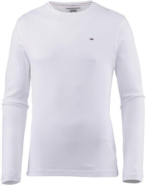 Tommy Hilfiger Long Sleeved Ribbed Organic Cotton T-Shirt (DM0DM04409) white