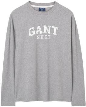 GANT Langarm T-Shirt grey melange (2004017-93)