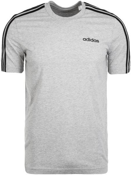 Adidas Essentials 3-Strips T-Shirt (DU0442) medium grey heather/black
