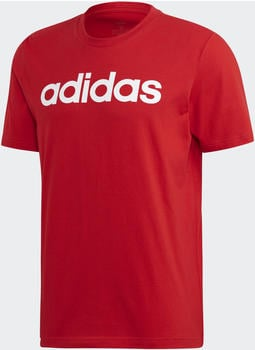 Adidas Essentials Linear Logo T-Shirt scarlet/white (FM6223)