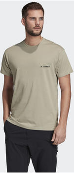 Adidas TERREX Primeblue Logo T-Shirt feather grey (FJ5038)