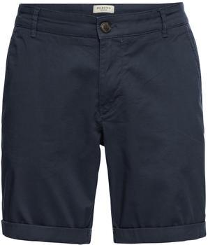 Selected Paris Regular Fit Shorts dark sapphire