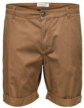 Selected Paris Regular Fit Shorts camel