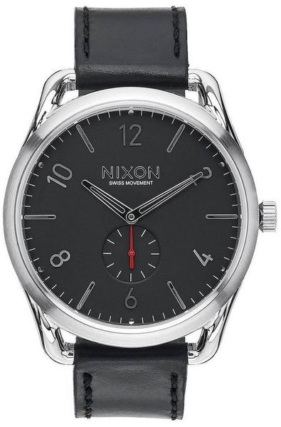 Nixon C45 Leather scharz/rot (A465-008)