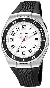 Calypso Uhr by Festina Armbanduhr K6063/3 Herren schwarz weiß 10 ATM