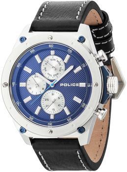 police-contact-herrenuhr-silber-blau
