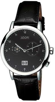 Joop! Uhr Circular Alarm Lederband klassische Herrenarmbanduhr JP100071001