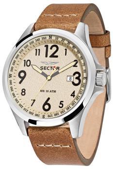 sector-r3251180012-ivory-dial-honey-uhr-herrenuhr-lederarmband