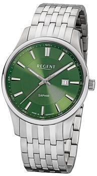 REGENT Herrenuhr GM1628 grün, mit Stahlband