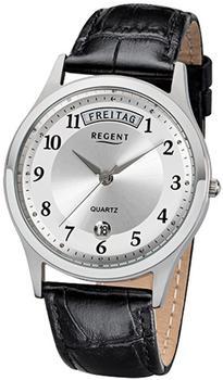 Regent Herrenarmbanduhr 32-f-1039 Quarz-uhr Leder-armband schwarz Urf1039