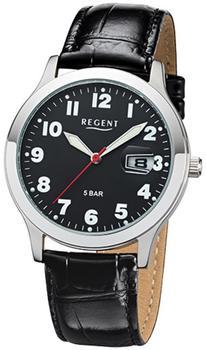 Regent Herrenarmbanduhr 32-f-1023 Quarz-uhr Leder-armband schwarz Urf1023