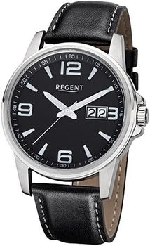 REGENT Uhr - Herrenuhr mit Datum und Lederband - F991