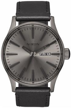 Nixon The Sentry Leather gunmetal/black (A105-1531)